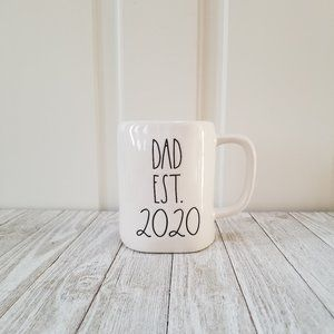 Rae Dunn DAD EST 2020 Ceramic Mug Coffee Tea